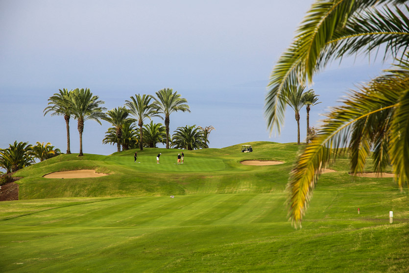 The greens at Abama luxury golf resort