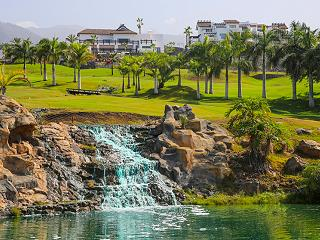 Waterfall and lake on the Abama golf course