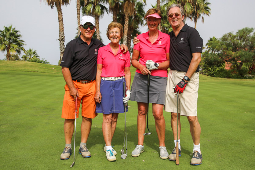 Team of golfers at the 2015 Abama Owners Cup