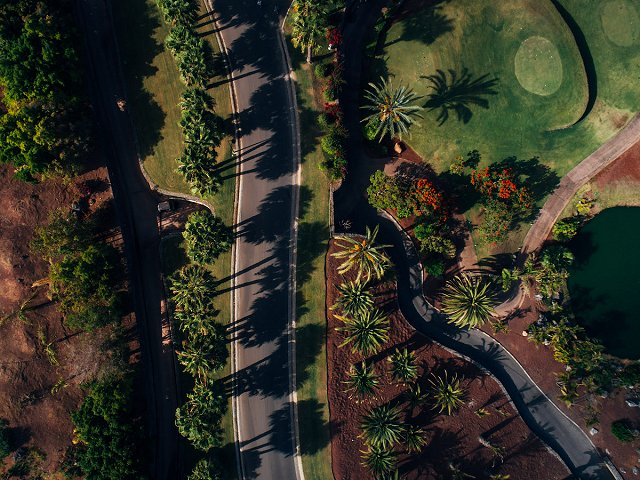 Abama luxury property on Tenerife from the sky