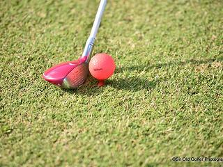 golf ball on the tee at Abama Resort