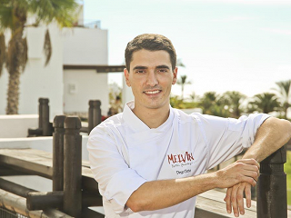 Diego Dato, head chef of Martín Berasategui's Melvin restaurant at Abama Resort