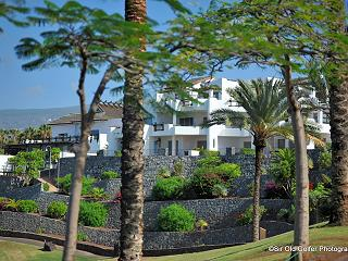 Golf course adjacent Las Terrazas luxury apartments on Tenerife