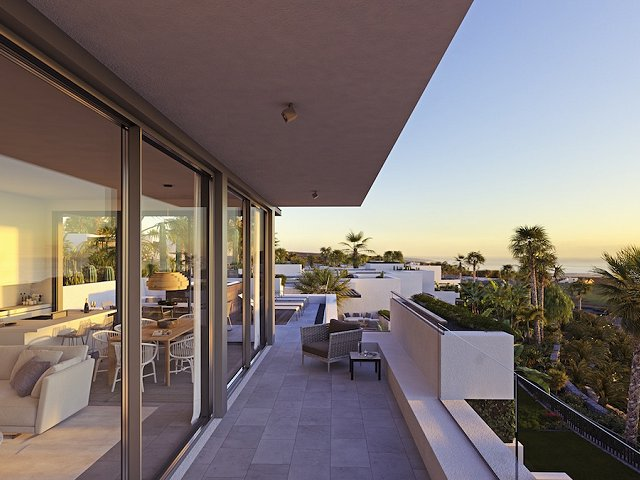 An inspiring afternoon release of the Las Arcadias luxury apartments on Tenerife